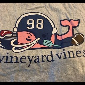 VINEYARD VINES long sleeve FOOTBALL t shirt NWT